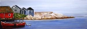 Peggy's Cove, Nova Scotia Artist, acrylic painting, landscape