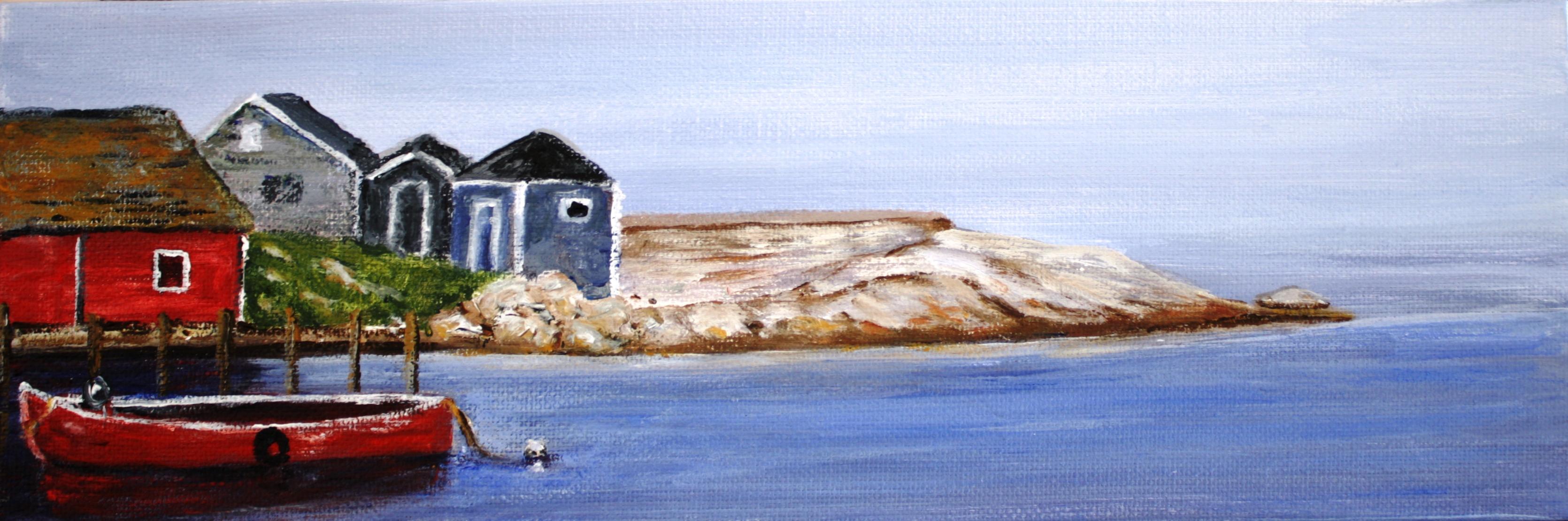 Peggy's Cove, Nova Scotia Artist, acrylic paitning, landscape
