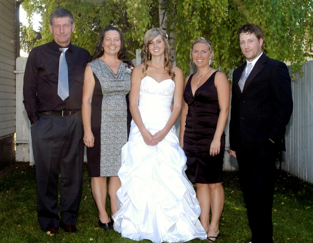 Rosthern, Saskatchewan, Stephanie's Wedding, in their backyard