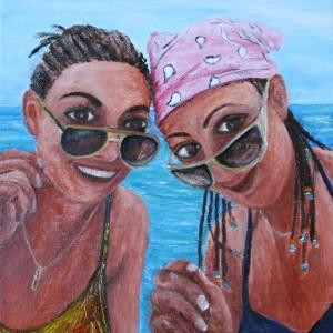 Jamica, beach, water, friends, sunglasses, smiles