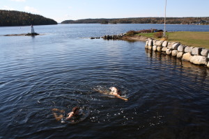 Swimming in Shad Bay, Bayside, Nova Scotia
