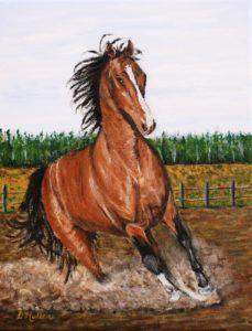 Horse, acrylic painting