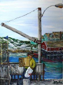 Painting at Peggy's Cove