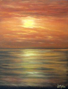 Sunset, Sanible Island, water, ocean