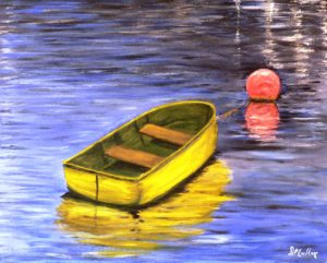 yellow, water, buoy, boat