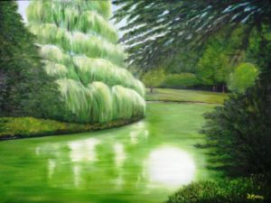 Green, Germany, oil painting