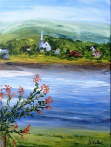 Annapolis Royal, Nova Scotia, Bay of Fundy, church, Donna Muller, painting