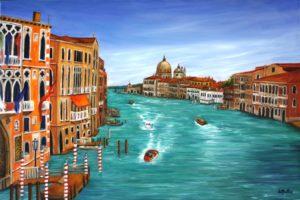 Venice, oil painting, Saskatchewan artist, Donna Muller, Donna's Gallery, Tripp's Gallery