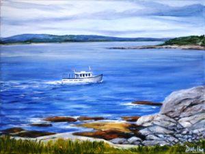 Peggy's Cove, Boat Tour, rock, ocean, boat, landscape
