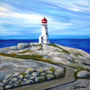 Peggy's Cove, Nova Scotia, lighthouse, ocean, Landscape, walkway