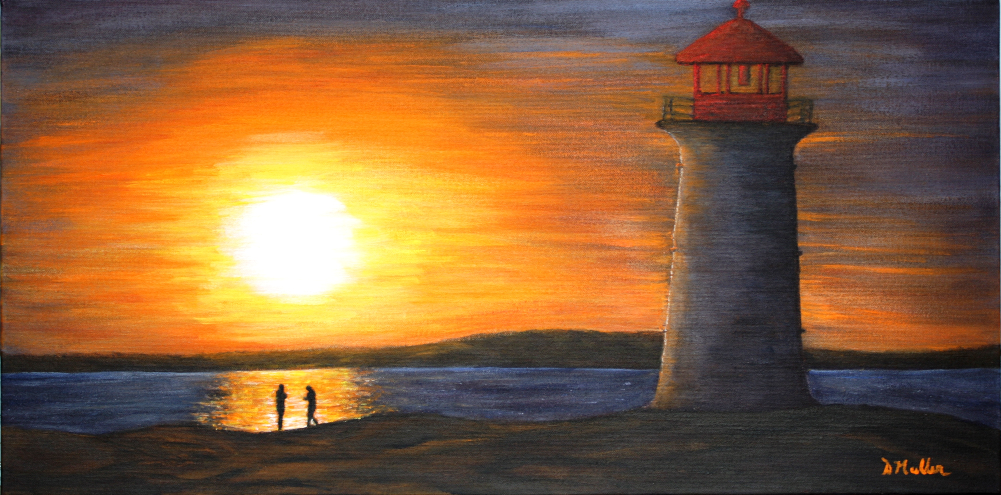 Sunset, Lighthouse, Peggy's Cove
