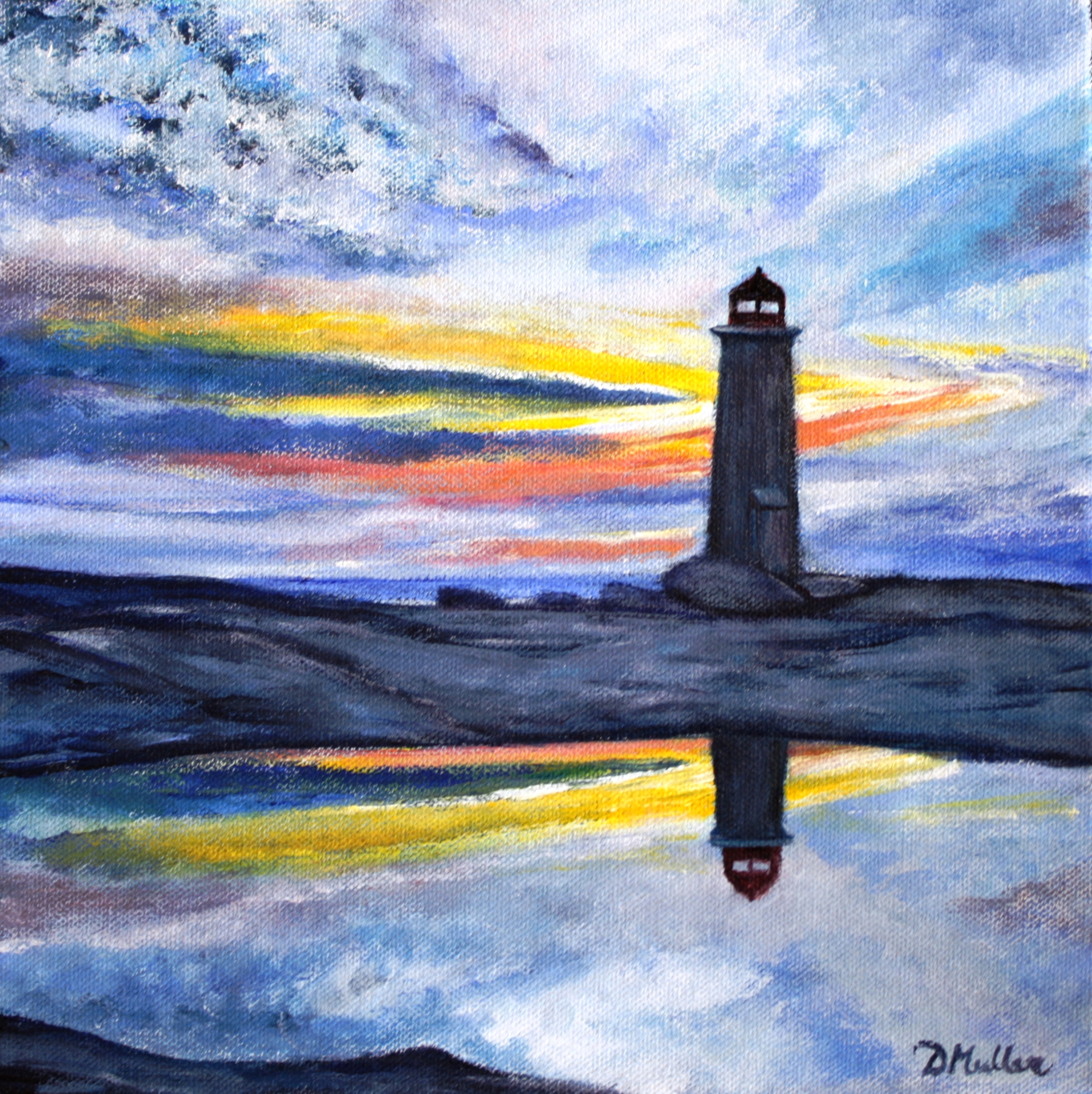 Peggy's Cove, lighthouse, Nova Scotia, sunset