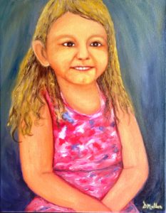 painting of Kaycee, portrait painting