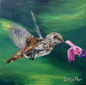 Hummingbird, flower