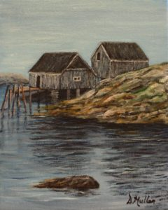 Peggy's Cove, shacks, rocks, water
