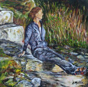 Rocks, thinking, sitting