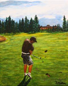 golfing, banff,