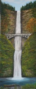 Falls, water, driftwood