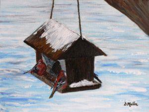bird house, winter, snow, cold