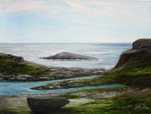 Landscape, Polly's Cove, Nova Scotia, ocean, rock