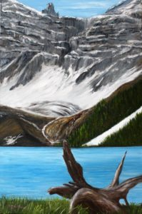 Driftwood, BC, lake, glacier, Mountain