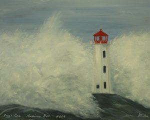 Hurricane bill, Hurricane, lighthouse, Peggy's Cove, crashing waves, Nova Scotia