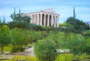 Greece, athens, landscape, ruins