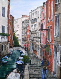 Venice, Street, boat, cityscape
