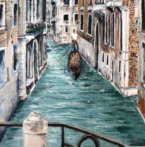 Venice, canal, gondola