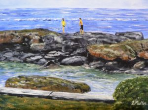 Hawaii, ocean, water, rock, north shore