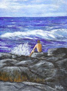 Hawaii, rock, wave