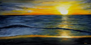 Sunset, water, Donna Muller
