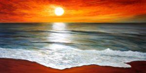 Ocean, water, waves, beach, artist Donna Muller