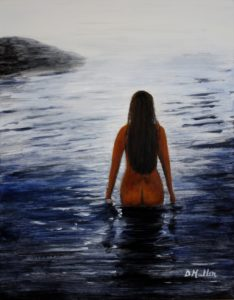 Water, swimming, nude, lady