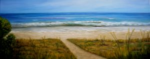 beach, florida, water, path, sand, wave