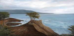 California, cypress, water, ocean, landscape, oil painting, Donna Muller, 17 mile drive
