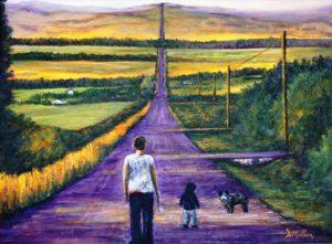 Road, Alberta, okotoks, walk, walking, dog, polls, road, hill, hills, farm yards, acreages
