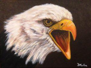 Eagle, bald eagle, painting, acrylic painting, wildlife
