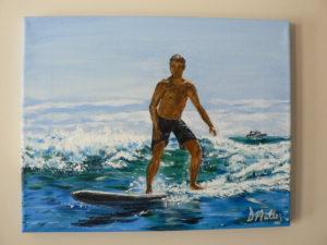 surfboard, ocean, waves